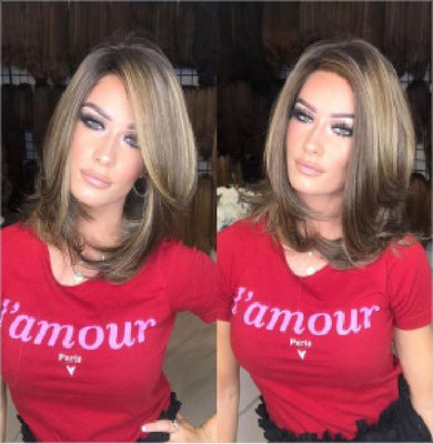 Straight Brown Wigs Short Hair