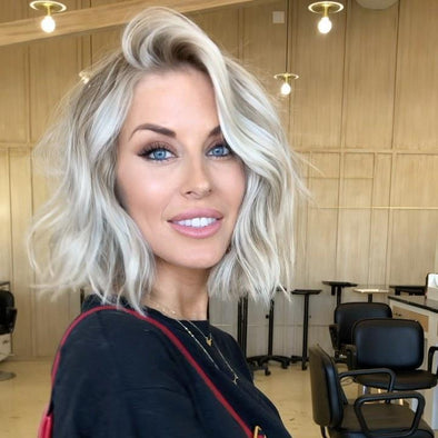 Short Wave Bright White Blond