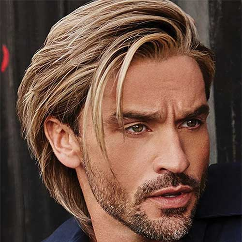 2020 Men's Brown Wig Bob Straight Hair