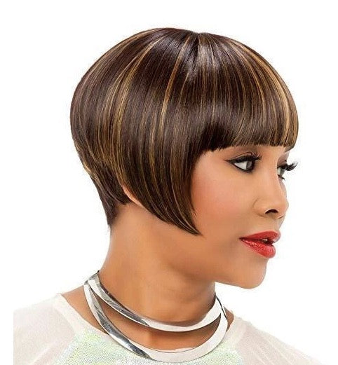 Short Bob Brown Straight Wigs For Black Women