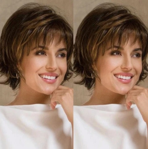 New Charming Brown Short Wig