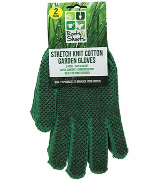 Stretch Knit Cotton Garden Gloves
