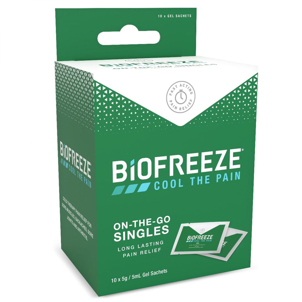 Biofreeze On-The-Go Singles Pack of 10 5ml Gel Sachets