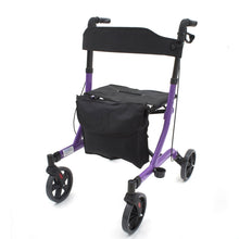 Deluxe Ultra Lightweight Folding Four Wheeled Rollator