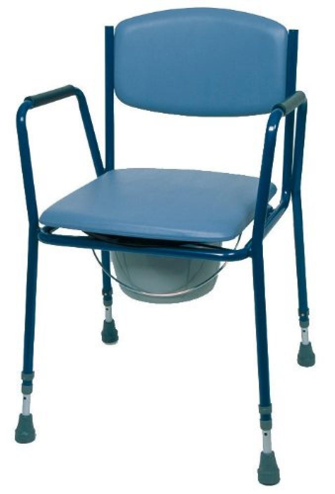 Adjustable-Height-Stacking-Commode Fixed armrests