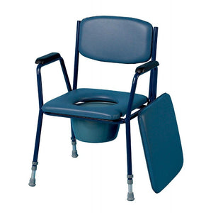 Adjustable-Height-Stacking-Commode Removable armrests