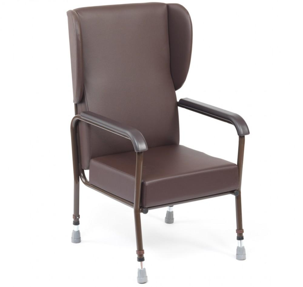 Adjustable-Metal-Framed-Chair--with-Wings Brown