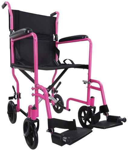 Aluminium-Compact-Transport-Wheelchair Black