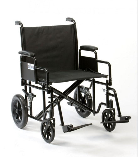 Bariatric-steel-transport-chair 56cm (22'')