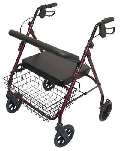 Days-extra-wide-heavy-duty-rollator Red