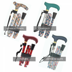 Deluxe-Folding-Walking-Cane Japanese Floral