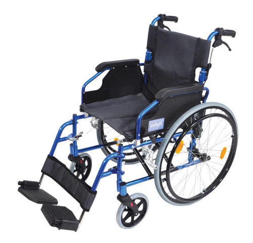 Deluxe-Lightweight-Self-Propelled-Aluminium-Wheelchair Blue