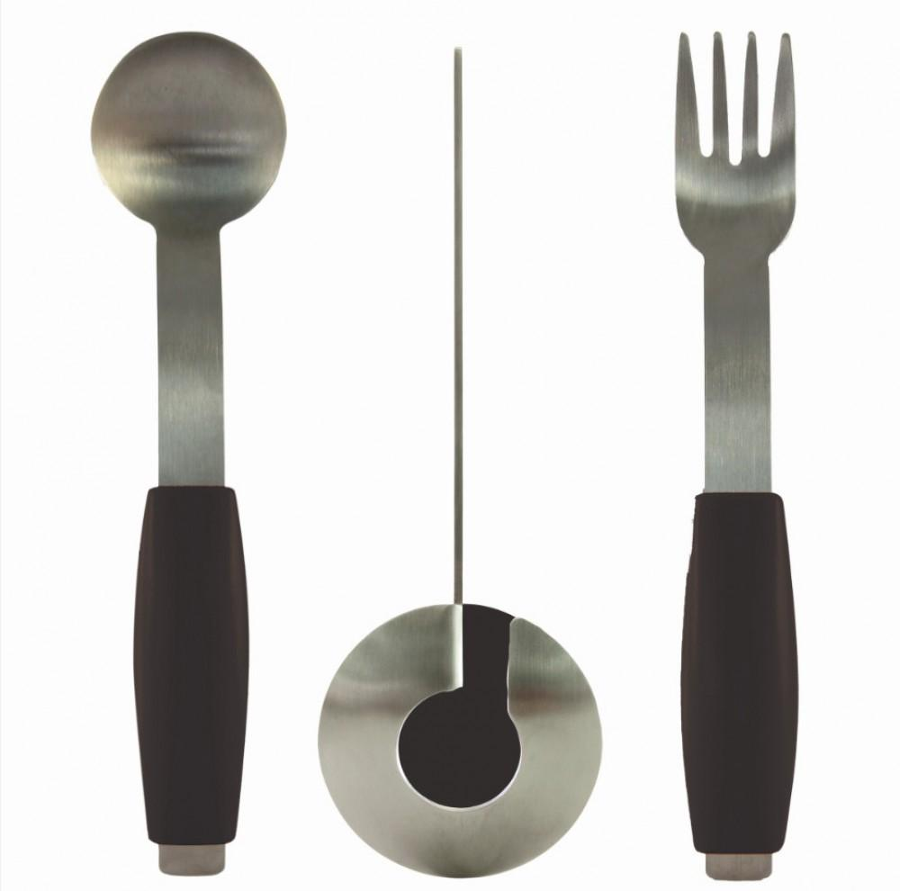 Ergonomic-Non-Slip-Cutlery-Set Black