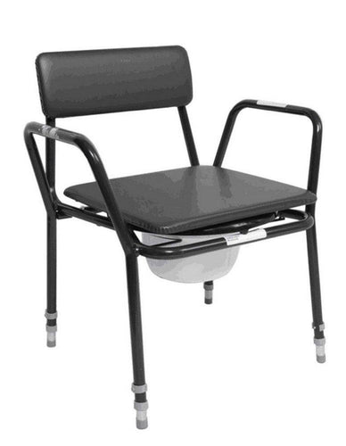 Extra-Low-Adjustable-Height-Commode-Chair Extra Low Commode - Adjustable Height