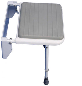 Folding-Shower-Seat-With-Legs Folding Shower Seat with Legs and Padded Seat