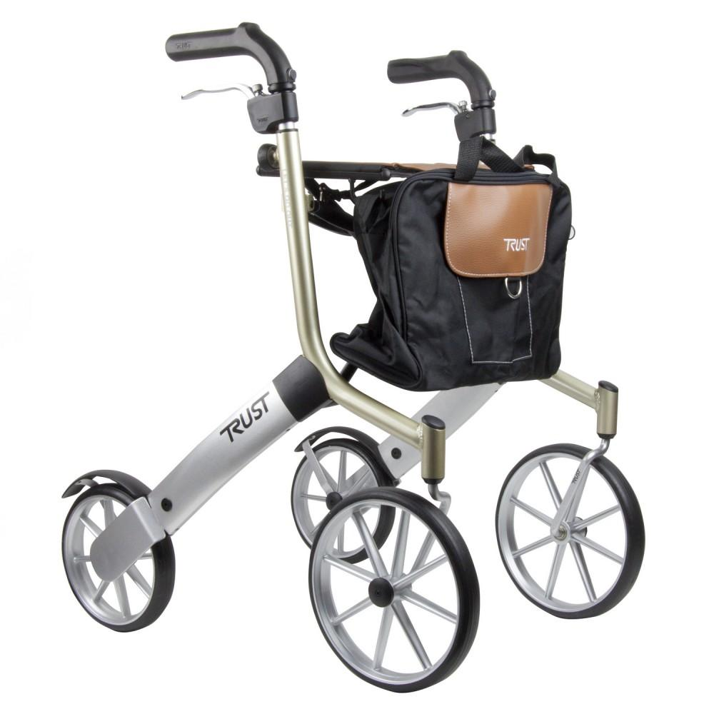 Lets-Go-Out-Rollator Black and Silver