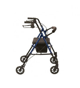 Lightweight-Aluminium-4-Wheel-Rollator-with-Bag Red