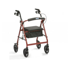 Lightweight-Aluminium-4-Wheel-Rollator-with-Bag Blue