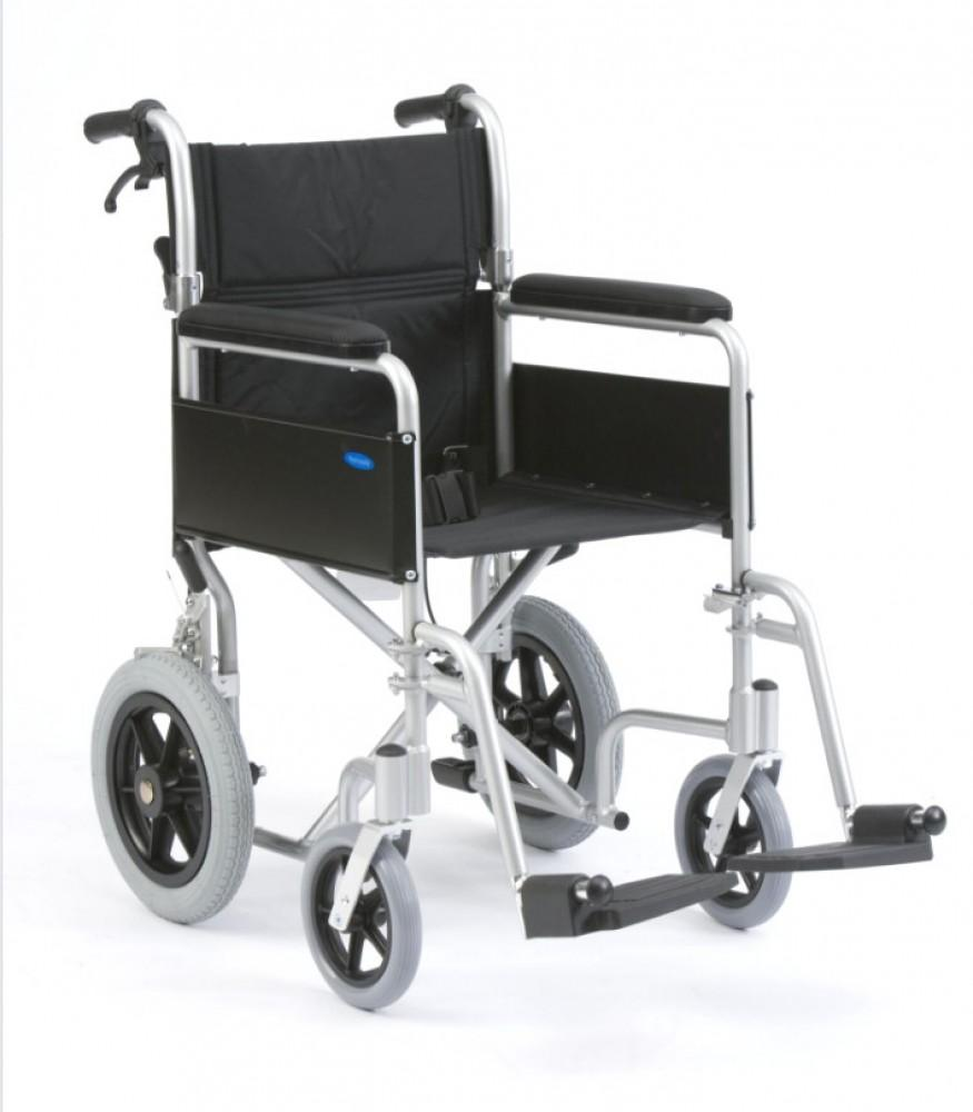 Lightweight-Aluminium-Transit-Wheelchair Lightweight Aluminium Attendant Controlled Transit Wheelchair