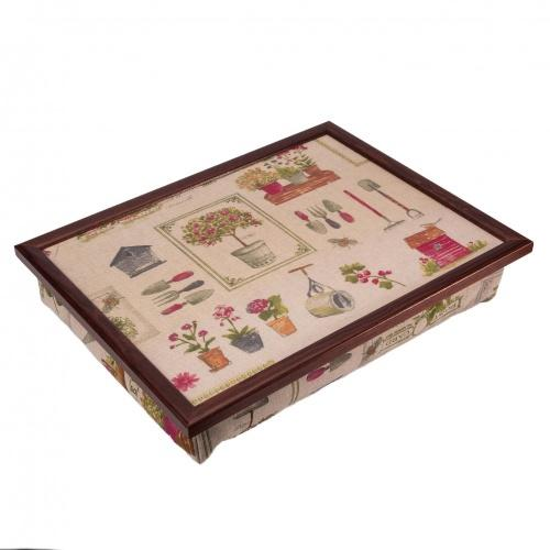 Luxury Gardening Print Cushioned Lap Tray