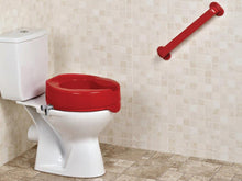 Red-Raised-Toilet-Seat-50mm-(2-Inches)-or-100mm-(4-Inches) 100mm (4 Inches)