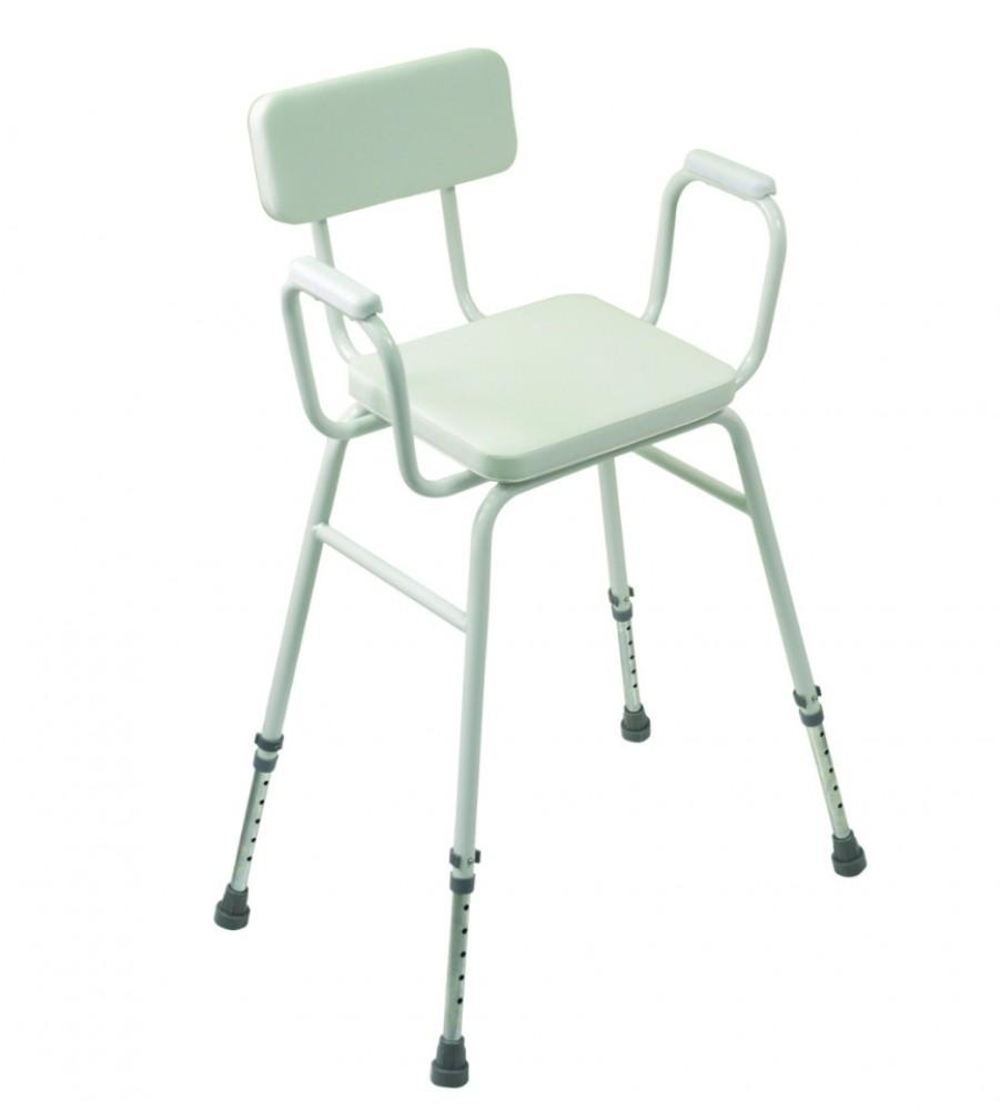 Malvern-Vinyl-Seat-Perching-Stool---Adjustable-Height-with-Padded-Armrests-and-Padded-Backrest Malvern Vinyl Seat Perching Stool - Adjustable Height with Padded Armrests and Padded Backrest