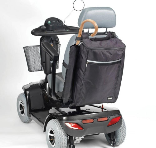 Mobility-bag-with-crutch-&-walking-stick-holders Black