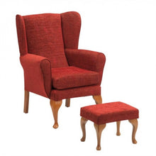 Queen-Anne-Chair Crimson Chair