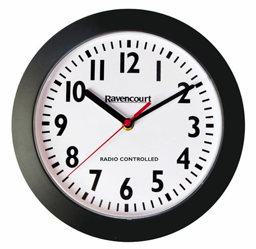 Radio-Controlled-Wall-Clock White outer