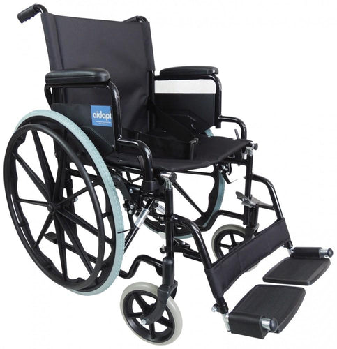 Self-Propelled-Steel-Wheelchair Black