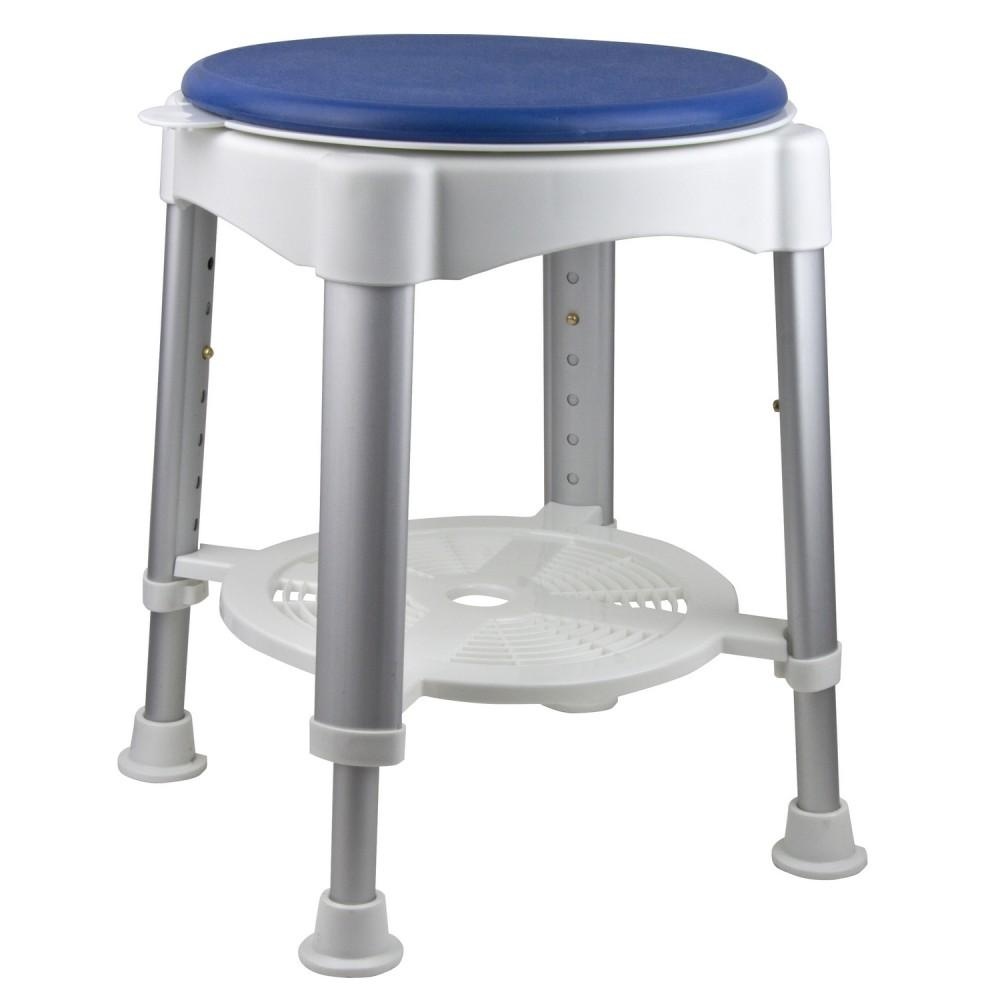 Shower-Stool-with-Padded-Swivelling-Seat Shower Stool with Padded Swivelling Seat