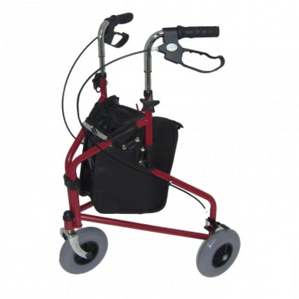 Steel-Triwalker-with-Carry-Bag Red