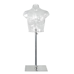 FTB3_2 Transparent Female Headless Bust