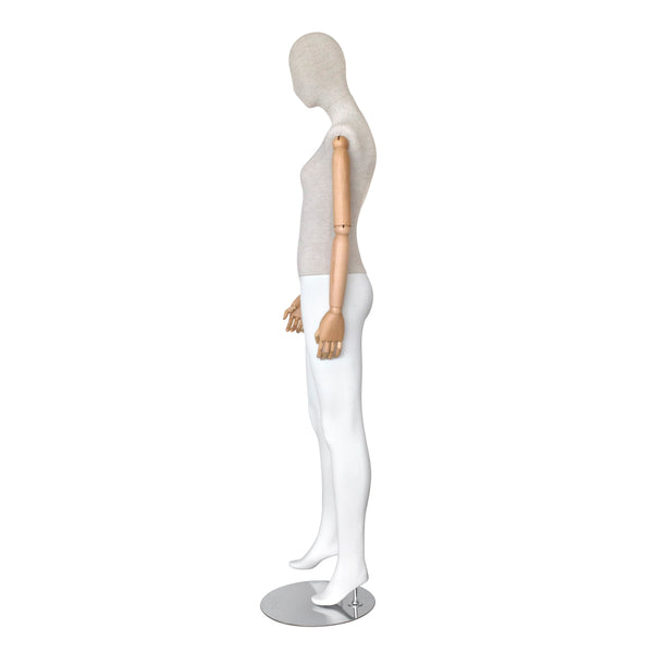 SHMB7 Female White Full Body Mannequin