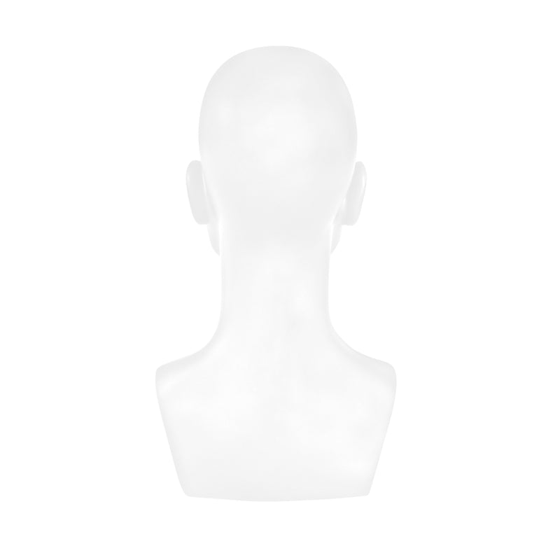 MHB01 Male Head Bust Mannequin in Matt White