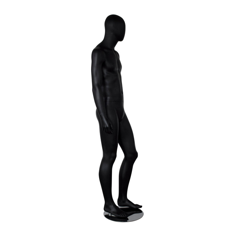 MMB_KRTM2 Male Matt Black Mannequin