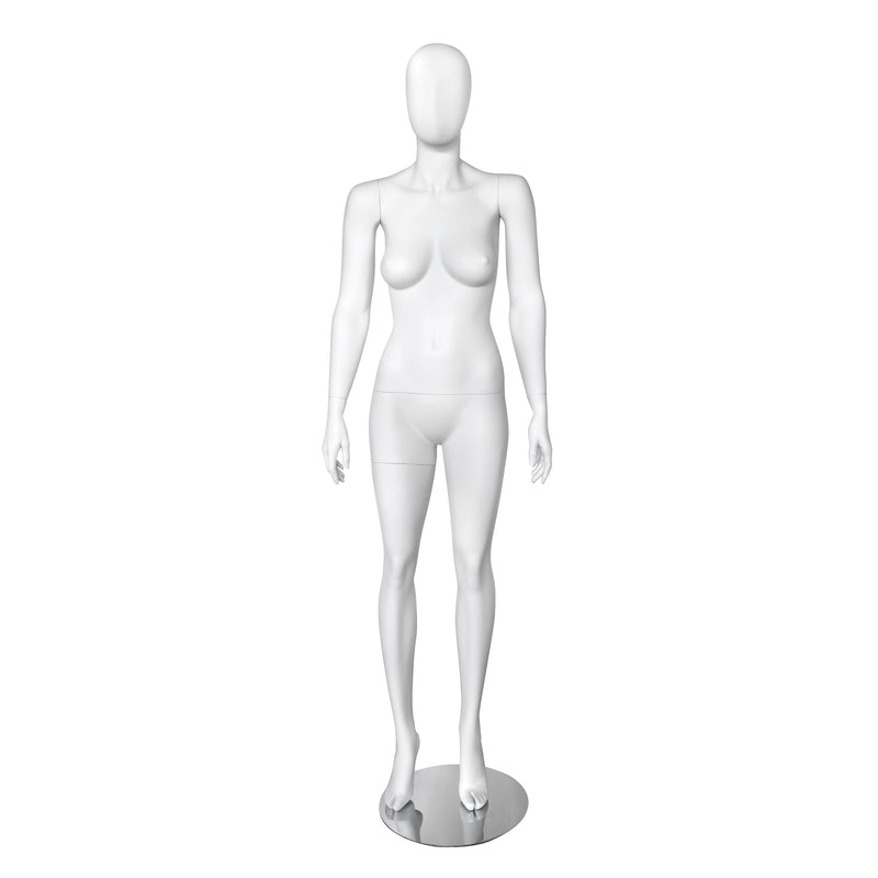 FMW_ROSO3 Female Matt White Full Body Mannequin