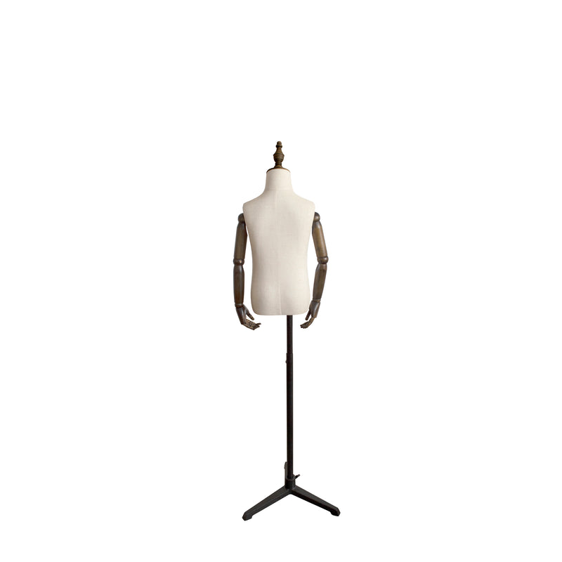 CTHB5 Child White Torso with Wooden Arms & Cap