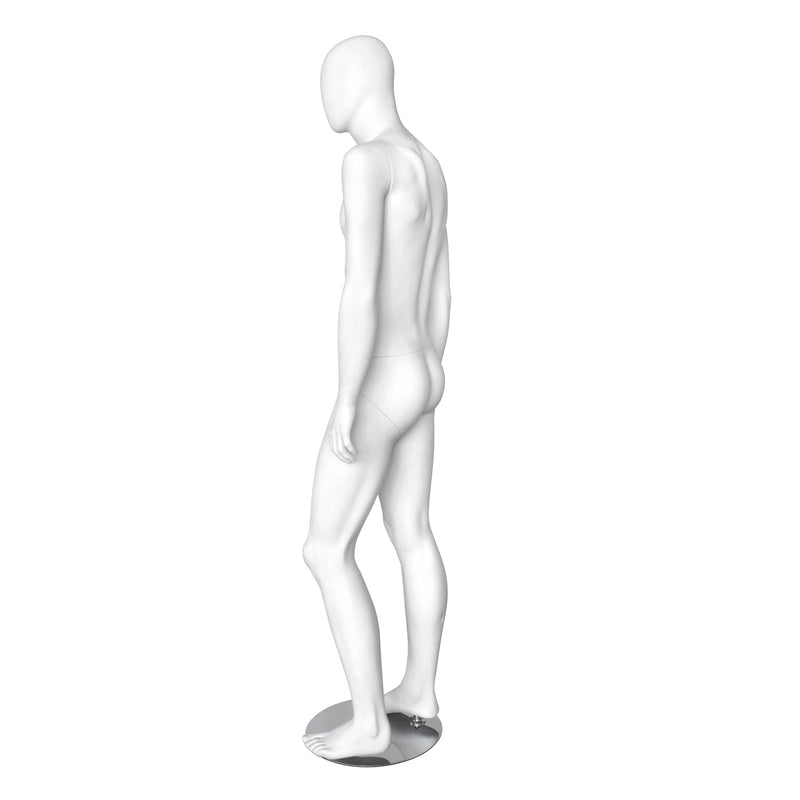 MMW_KRTM2 Male Matt White Mannequin