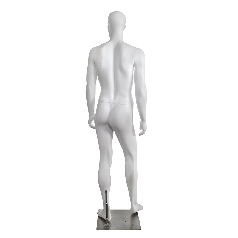 M16 White Matt Male Mannequin with Face
