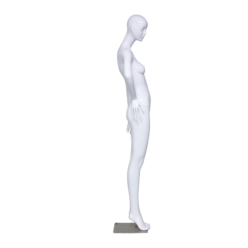 A4 White Gloss Female Mannequin