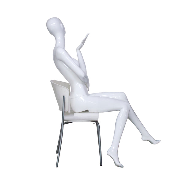 AB1 White Gloss White Female Mannequin
