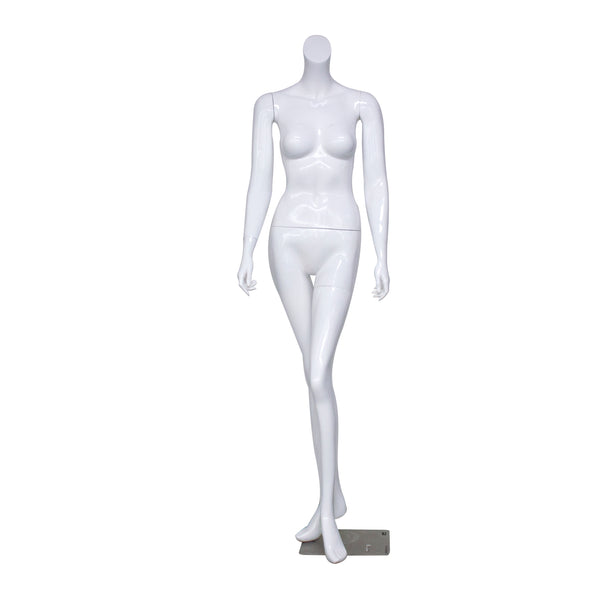 B2 White Gloss Female Mannequin Headless [Pre-Order]