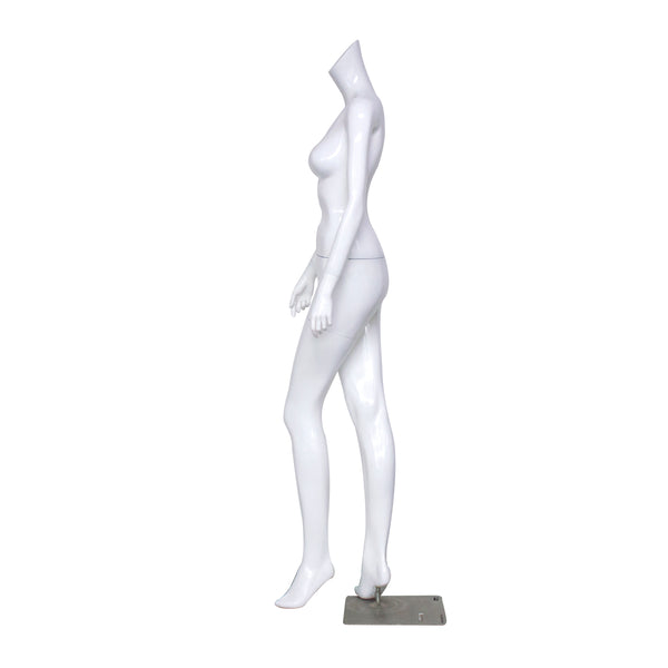 B2 White Gloss Female Mannequin Headless