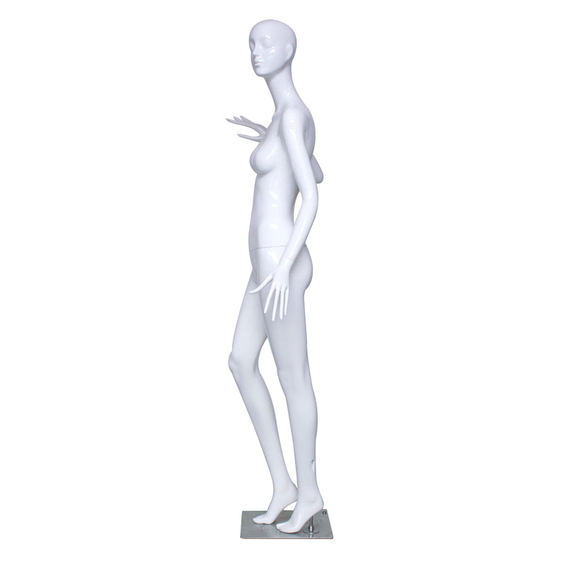 C3 White Gloss Female Mannequin