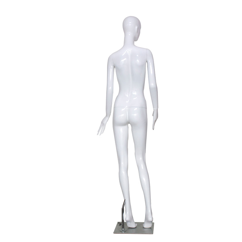 E6 White Gloss Female Mannequin with Face
