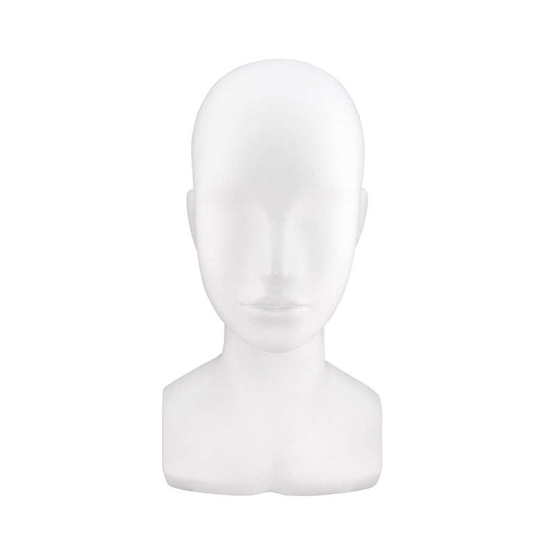 FHB01 Female Head Bust Mannequin in Matt White