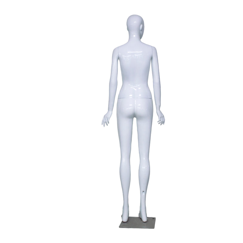 H1 Female White Gloss Mannequin
