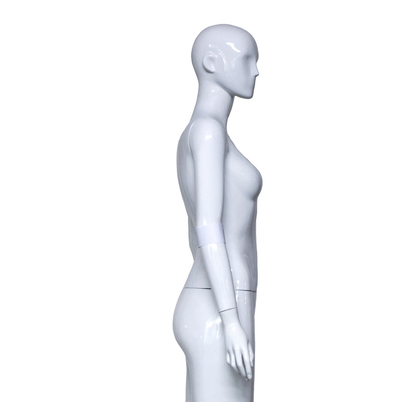 H1 White Gloss Female Mannequin with Face