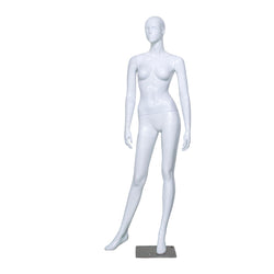 H2 Female White Gloss Mannequin